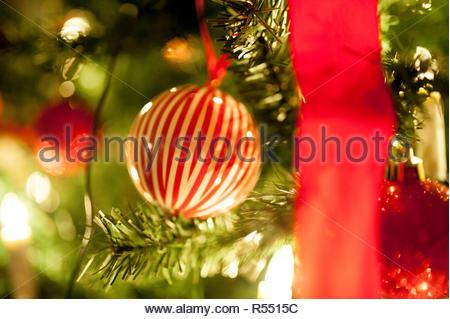 Ornament on tree. Shallow DOF Romantic style - Stock Image