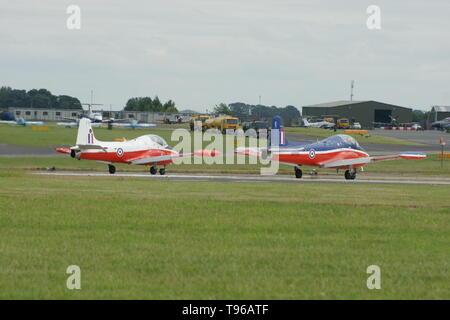 BAC Jet Provost, cold war Jet trainer - Stock Image