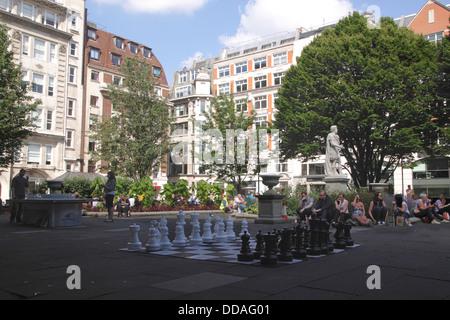 Golden Square Soho London - Stock Image