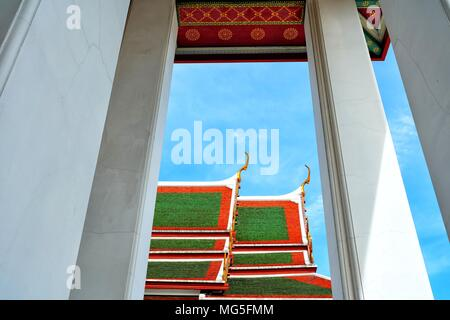 Thai Traditional Church Roof. - Stock Image