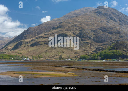 Loch Duich by Sheil Bridge in Kintail district on the West of Scotland's Highland Region. - Stock Image
