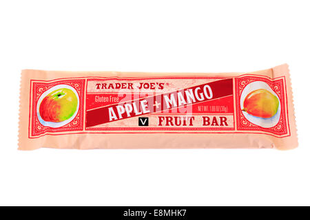 Trader Joe's Apple Mango Fruit Bar - Stock Image