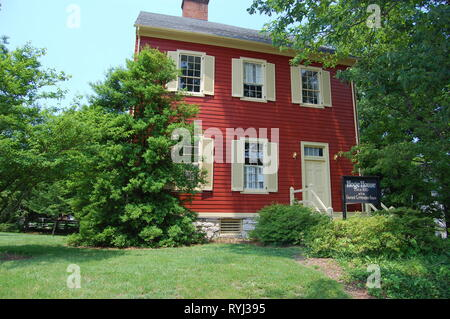 Hoge House  house is architecturally notable because of its brick and log construction covered by clapboards. - Stock Image