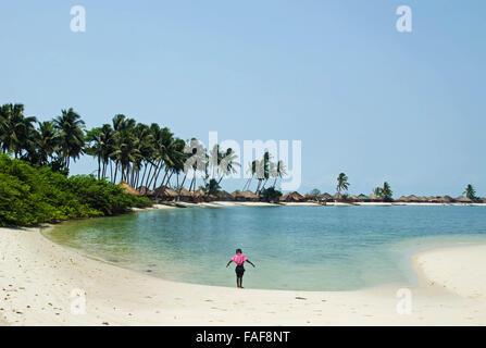 Nyangai Island, the Turtle Islands, Sierra Leone. - Stock Image