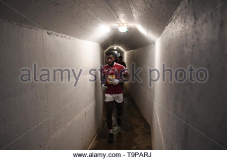 Handout dated 09/12/2018 issued by Sportsfile of Liberian born Westmeath footballer Boidu Sayeh during the O'Byrne Cup Round at Netwatch Cullen Park in Carlow. IrelandÕs sporting community has been challenged to be more inclusive after research found that foreign nationals are significantly underrepresented in clubs. - Stock Image