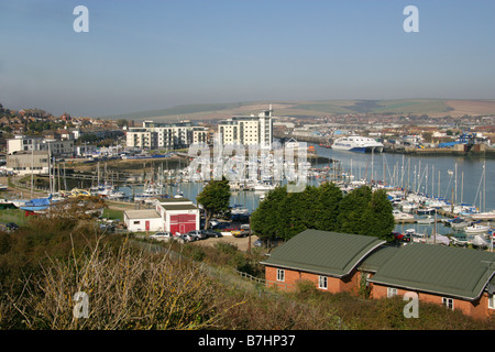 Newhaven Harbour East Sussex UK - Stock Image