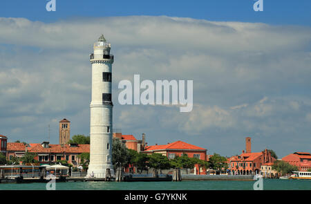 Lighthouse of Isola di Murano Island, Venice, Italy. - Stock Image