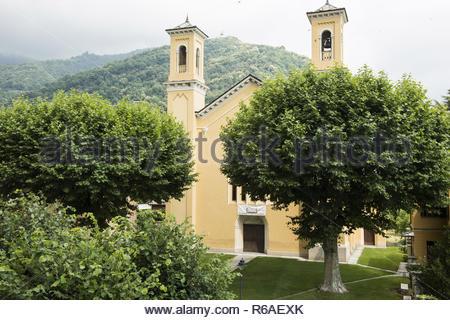 Main Church Of The Valdensians In Torre Pellice, Piedmont - Stock Image