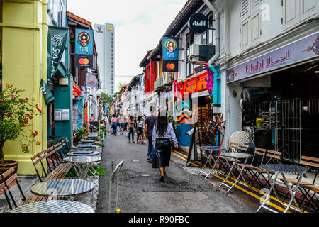 Haji Lane, Kampong Glam, Singapore - Stock Image