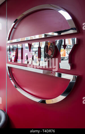 Logo of the iconic Wimpy fast-food multinational burger chain - Stock Image