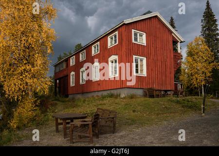 STF Kvikkjokk Fjällstation, Kungsleden Trail, Lapland, Sweden - Stock Image