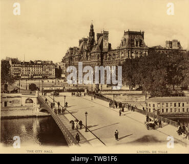 Hotel de Ville: the Town Hall       Date: circa 1908 - Stock Image