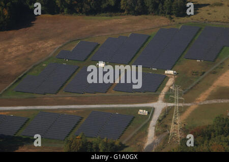 Solar panels areal Pennsylvania - Stock Image