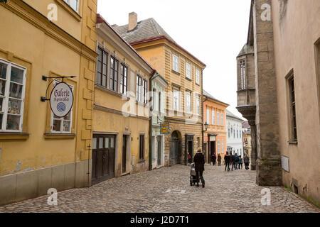 Europe, Czech Republic, Kutna Hora. People in street scene. Credit as: Wendy Kaveney / Jaynes Gallery / DanitaDelimont.com - Stock Image