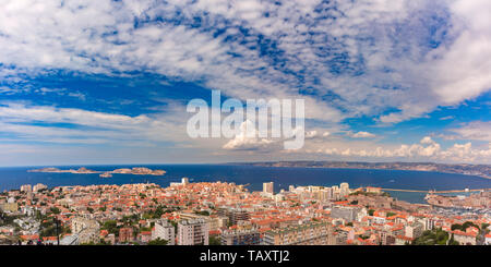 Aerial view of Marseille, South France - Stock Image