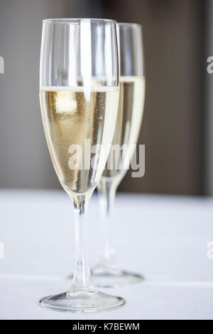 Champagne flutes - Stock Image