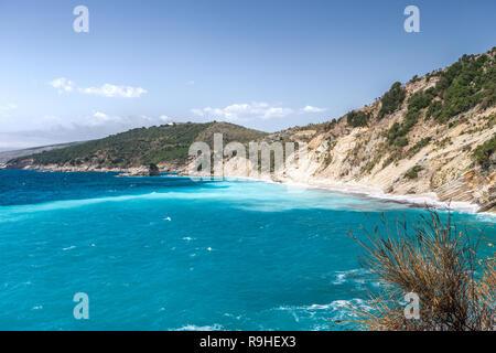 Pulebardhe (Seagull) beech, Albania, - Stock Image