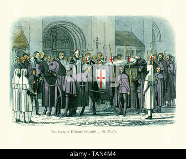 The Funeral of King Richard II at St Paul's. - Stock Image