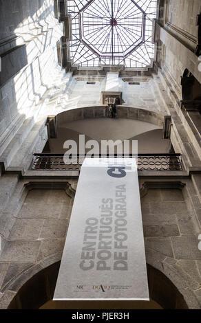 Interior stairwell of Centro Portugues de Fotografia, Porto, Portugal. - Stock Image