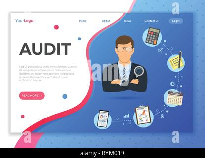 Auditing, Tax process, Accounting Concept - Stock Image