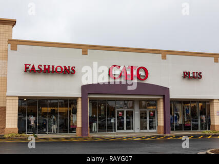 HICKORY, NC, USA-1/3/19: Cato's is an American retailer of women's fashions and accessories, headquartered in Charlotte, NC, with over 1300 stores. - Stock Image