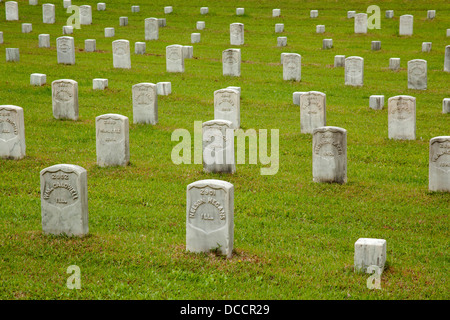 Battlefield and cemetery at Shiloh Tennessee. Site of the Battle of Pittsburg Landing in 1862 - Stock Image