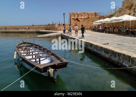Chania, Crete, Greece. June 2019. The Old Venetian Harbour in Chania - Stock Image
