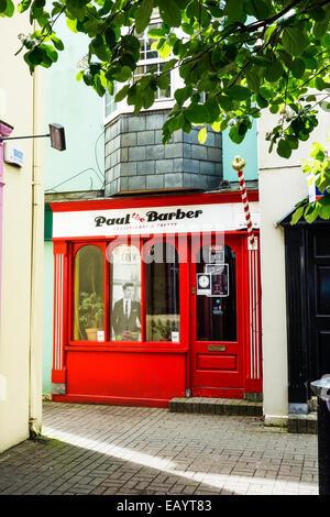 A barbershop in Kinsale, Ireland. - Stock Image