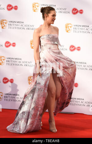 LONDON, UK. May 12, 2019: Anna Passey arriving for the BAFTA TV Awards 2019 at the Royal Festival Hall, London. Picture: Steve Vas/Featureflash - Stock Image