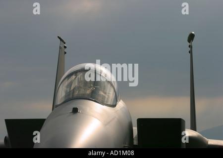 Jet aircraft F15 Eagle - Stock Image