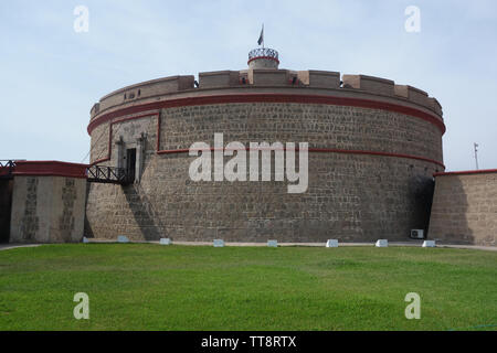 Real Felipe Fortress in the port of Callao, Lima, Peru - Stock Image