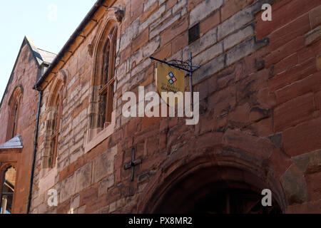 The exterior of St Mary's Guildhall on Bayley Lane in Coventry city centre UK - Stock Image