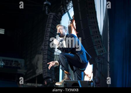 Kaiser Chiefs concert at Elland Road as part of Leeds United's centenary year celebrations. - Stock Image