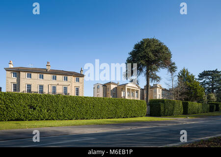 Large, luxurious Regency merchants' mansions on the Promenade, Clifton Down, Clifton, Bristol, the 'Engineer's - Stock Image