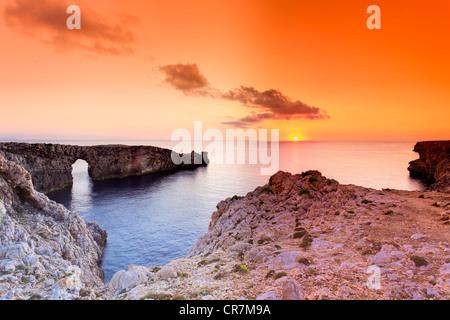 Spain, Balearic Islands, Menorca (Minorca), Pont d'en Gil - Stock Image