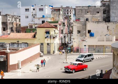 Cuba, Havana, Old Havana. Overview of city street. Credit as: Wendy Kaveney / Jaynes Gallery / DanitaDelimont.com - Stock Image