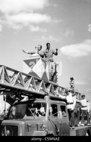 Arrival in Brasilia of Brazilian Football Team, World Champion, 1970 - Stock Image