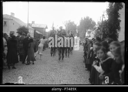 61 Narcyz Witczak-Witaczyński - Manewry 1 Pułku Strzelców Konnych - powrót do Garwolina (107-694-2) - Stock Image