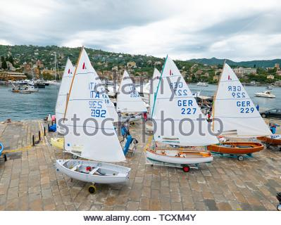 Sailing craft, Santa Margherita Ligure. - Stock Image