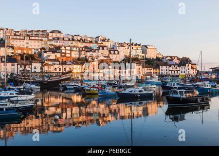 England, Devon, Brixham, Brixham Harbour - Stock Image