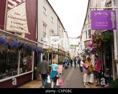 Shops in Dartmouth in Britain - Stock Image