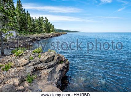 North shore of Lake Superior - Stock Image
