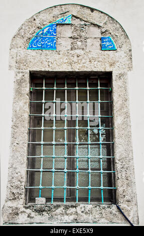 An old window in a mosque in Turkey - Stock Image