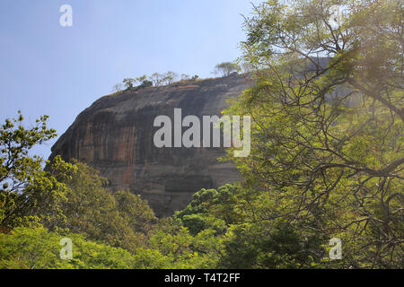 sigiriya rock or lion rock a unesco world heritage site in the cultural triangle of sri lanka - Stock Image