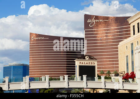 Las Vegas, Wynn, Encore, and Palazzo Hotel and Casinos. - Stock Image