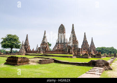 Wat Chaiwatthanaram is ancient buddhist temple, famous and major tourist attraction religious of Ayutthaya Historical - Stock Image
