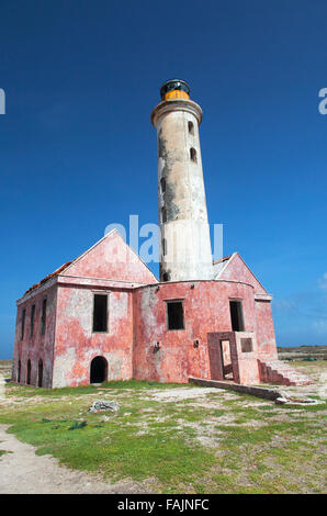 The Lighthouse in the Middle of Klein Curacao, Curacao - Stock Image
