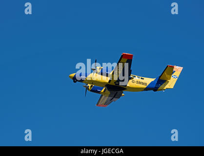 A Scottish Marine Fisheries Protection Reims 406 Caravan aircraft ready to cover an area of the North sea  between - Stock Image
