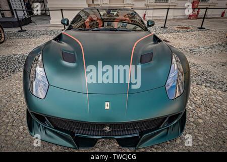 Piedmont Turin - Turin auto show 2019  - Valentino park - Valentino castle  - Ferrari Collector's Award 2019 - Private Collection - Stock Image