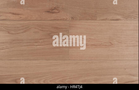 Top view photo of rustic natural oiled Italian oak wood floor boards with rough texture - Stock Image
